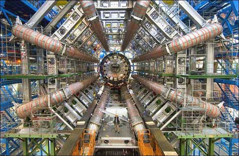 A look at the ATLAS particle detector experiment at the Large Hadron Collider (LHC), the huge particle accelerator at CERN near Geneva, Switzerland. (Photo: Image Editor via Flickr)