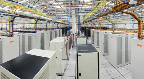 The interior of a Q9 Networks data center. The Toronto-based provider is being acquired by Bell Canada and a team of investors.