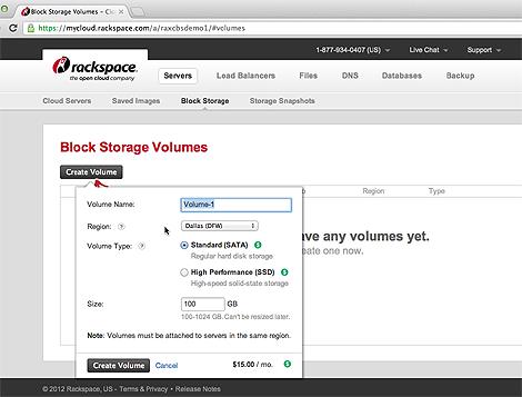 Rackspace Launches Cloud Block Storage Product   Data Center