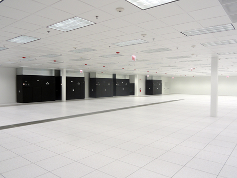 View of Latisys Chicago high-density space. Ready for the IT equipment.