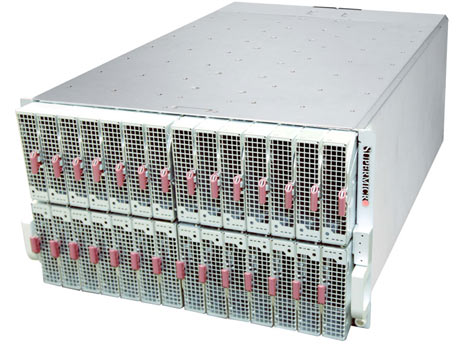 SuperMicro has introduced a new 6U microserver using the new Intel Atom C2000 processor. (Photo: SuperMicro)