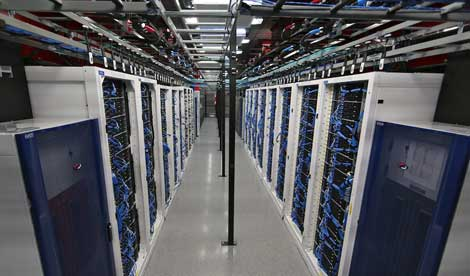 A look inside the data halls at the Switch SuperNAP campus in Las Vegas (Photo: Switch)