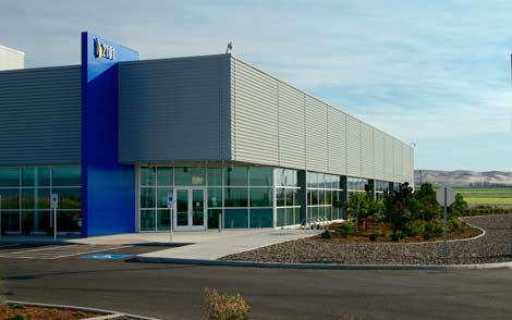 The exterior of the first Vantage data center in Quincy, Washington. (Photo: Vantage)