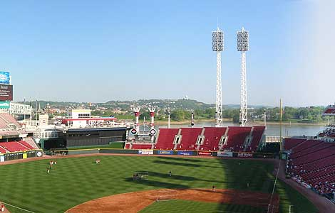 Homefield of the Cincinnati Reds, the Great American Ballpark opened in 2003.