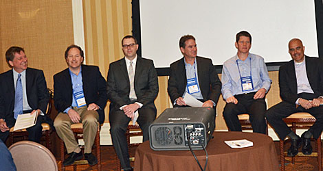 "The session on ""Ensuring a Successful DCIM Project"" on Tuesday morning was packed and there was a well populated panel. They included Paul Goodison, Cormant, Sean Nicholson, Emerson, James Sherrin, iTRACS, Mark Harris, Nlyte, James Cerwiniski, Raritan, and Domenic Alcaro, Schneider Electric."