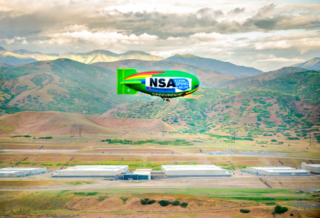 EFF, Greenpeace and the Tenth Amendment Center organized a flyover in June 2014 above the NSA's Bluffdale, Utah, data center. (Photo: Greenpeace)