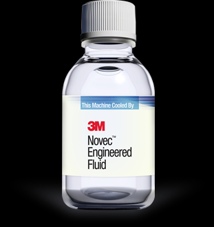 One of the biggest suppliers of dielectric fluid for liquid cooling of electronics is 3M. Its fluid is called Novec.