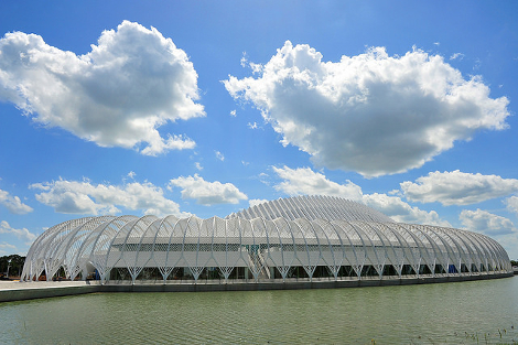 The new Florida Polytechnic University will open its doors to the inaugural 500-student class later this month. (Photo by Jeane H. Vincent/Florida Polytechnic University)