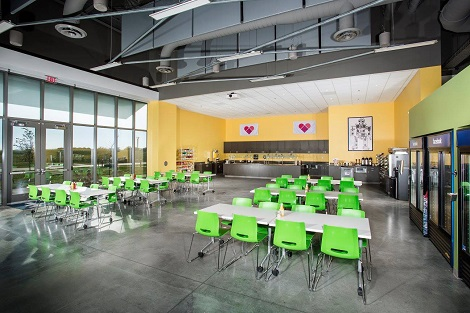 Cafe at Facebook's Altoona data center. (Photo: @2014 Jacob Sharp Photography)