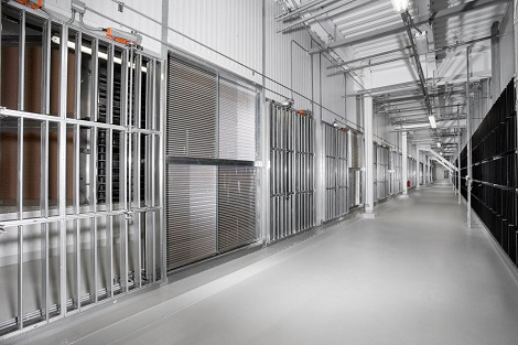 Coil damper room at Facebook's Altoona data center. (Photo: @2014 Jacob Sharp Photography)