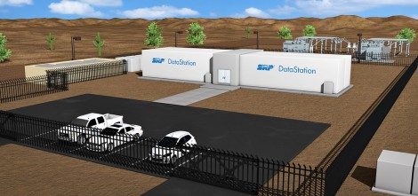 SRP and BaseLayer have set out to prove that plugging a data center directly to bulk transmission lines removes the need for backup generators (Rendering: SRP)