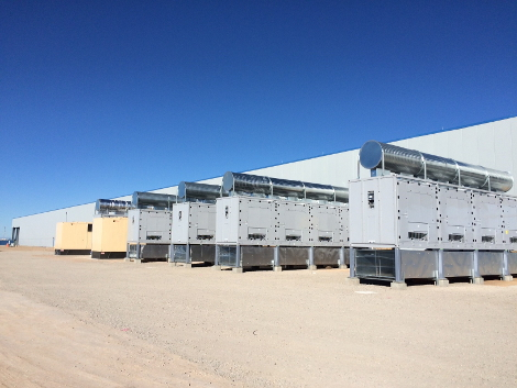 The Innava facility in Albuquerque uses Schneider Electric's EcoBreeze economizers as part of its cooling system (Photo: Innava Data Solutions)