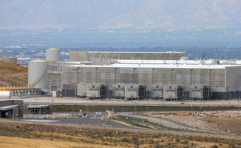 The NSA data center with the Salt Lake Valley in the background in Bluffdale, Utah, in 2013. The data center has reportedly been plagued by power surges that destroyed hundreds of thousands of dollars worth of equipment and delayed the opening of the center for a year. (Photo by George Frey/Getty Images)