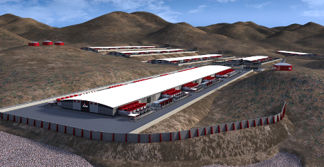 Rendering of the planned Switch Tahoe Reno SuperNap data center campus (Image: Switch)