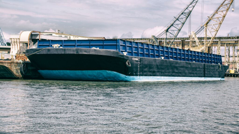 This barge, docked at the US Navy base at Mare Island in Vallejo, California, will soon hold the first floating data center built and operated by Nautilus Data Technologies (Photo: Nautilus Data Technologies)