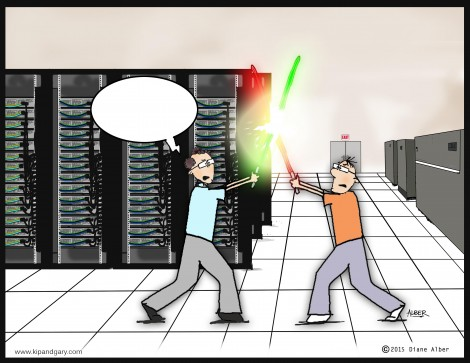 There's got to be a massive data center inside the Death Star...