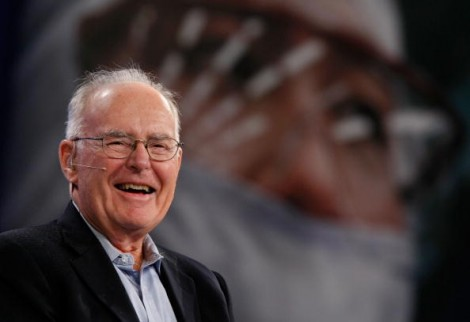 Intel co-founder Gordon Moore, 2007 (Photo by Justin Sullivan/Getty Images)