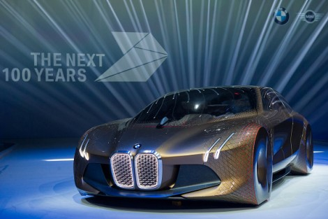 The concept car 'Vision Next 100' by BMW is presented during the celebration marking the company's 100th anniversary on March 7, 2016 in Munich, Germany. (Photo by Lennart Preiss/Getty Images)