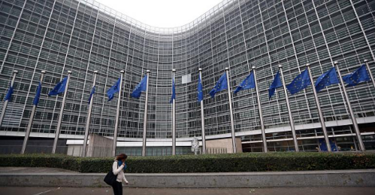 The European Commission building is pictured on October 2014 in Brussels, Belgium.