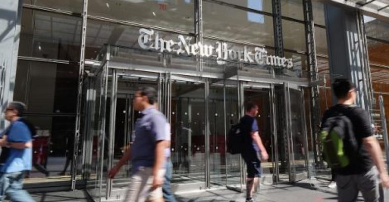 The New York Times building in New York City, 2016