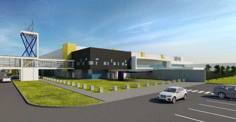 Rendering of RagingWire's data center in Garland, Texas