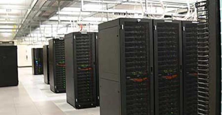 Racks inside an Amazon data center