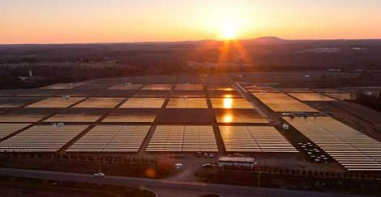 Solar arrays Apple North Carolina