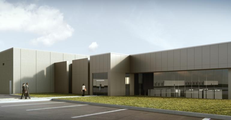 Rendering of the future Apple data center in Waukee, Iowa