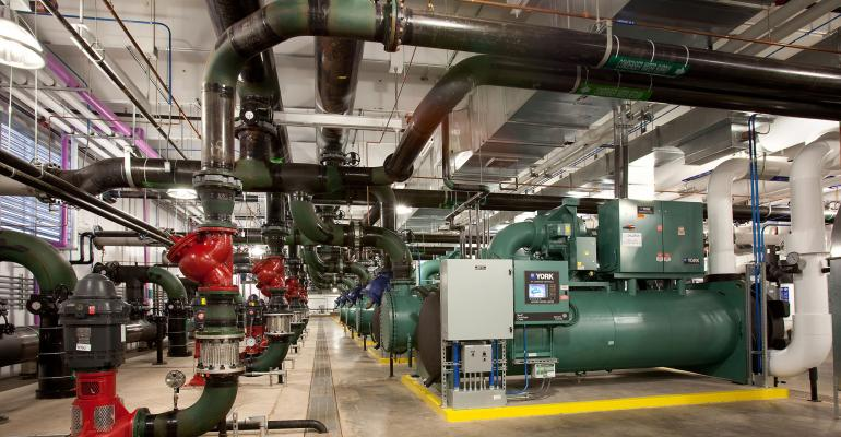 Cooling systems at the DuPont Fabros ACC7 data center in Ashburn, Virginia