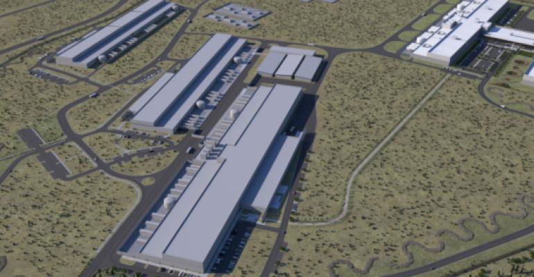 Rendering of Facebook's Prineville data center campus
