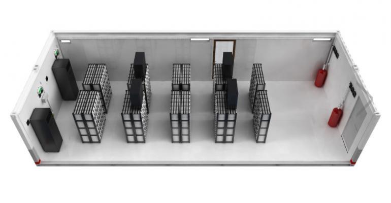 A Huawei prefabricated modular data center