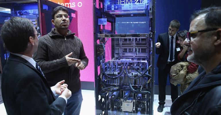 IBM z13 mainframe at the 2015 CeBIT technology trade fair in Hanover