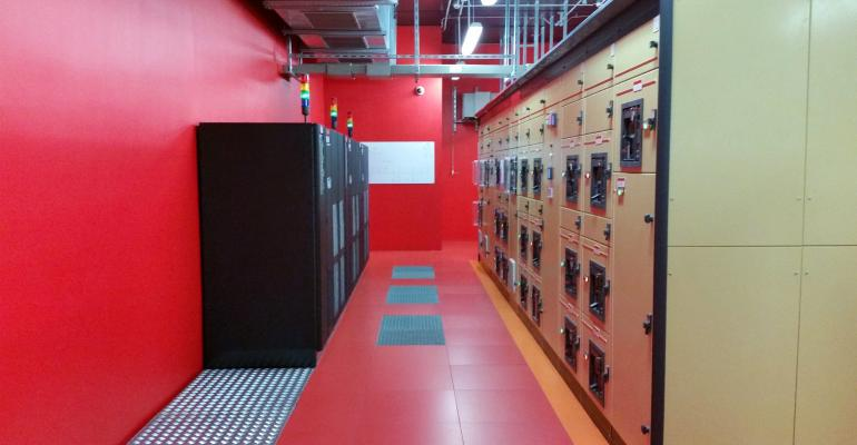 Electrical room in a data center