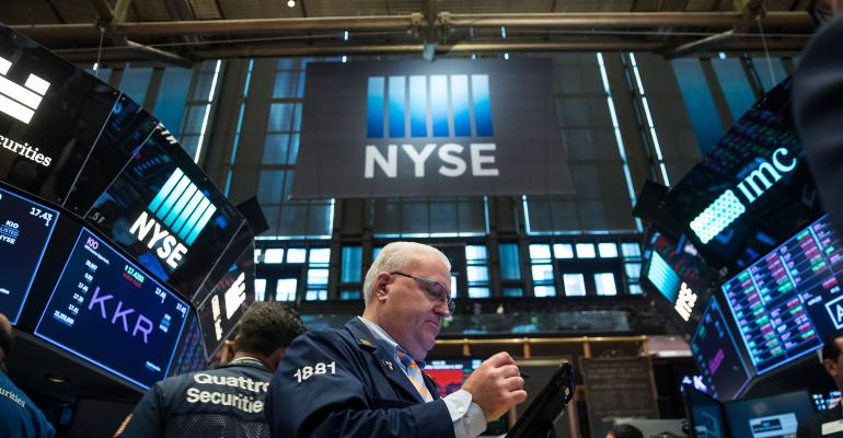 Traders work on the floor of the New York Stock Exchange (NYSE), 2017