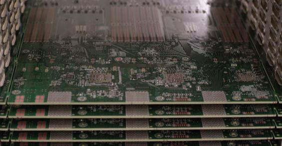 Pure Storage array being assembled