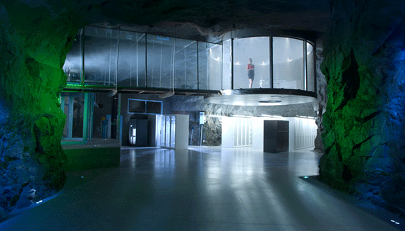 The futuristic Bahnhof data center, located 100 feet beneath Stockholm, is one of many facilities built in nuke-proof subterranean bunkers.