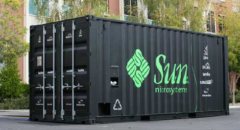 The Sun Modular Data Center (Blackbox) container data center from Sun Microsystems.