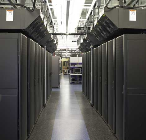 Sun Microsystems is using overhead spot cooling in its new Colorado data center.