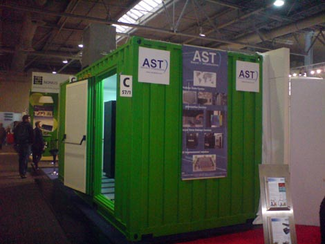 AST Global is showing off its data center container offering at CeBIT technology show in Germany(Photo by Sune Christesen)