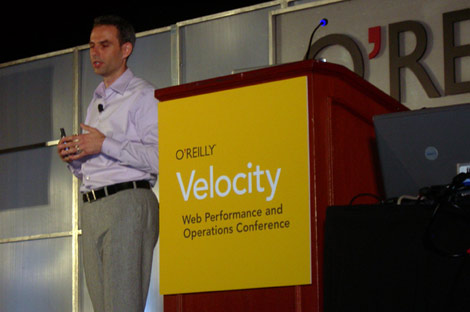 Facebook VP of Technical Operations Jonathan Heiliger speaks at the O'Reilly Velocity 2009 conference in San Jose, Calif.