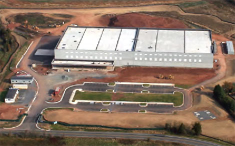 An aerial view of the Power Loftt LLC development in Manassas.