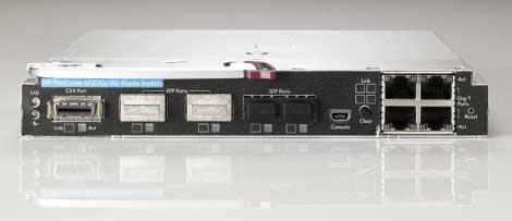 The new HP ProCurve G-XG 6120 Blade Switch, which supports 10GB Ethernet and is CEE ready.