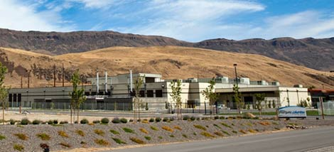 A view of the Intergate.Columbia data center complex built by Sabey Corp. in Wenatchee, Washington.