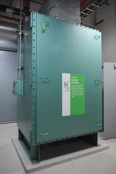 The Cain Heat Exchanger in the data center at Syracuse University.