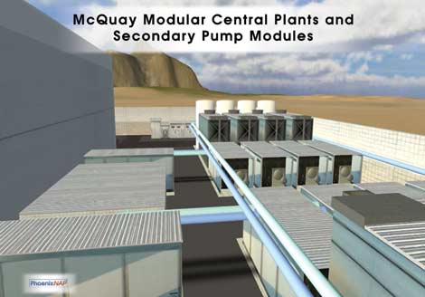 A screen shot from a virtual tour of the PhoenixNAP data center.