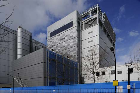 The exterior of the new Telehouse West data centre at the Docklands in London.