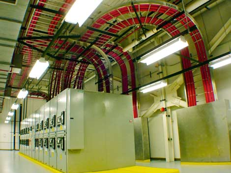 One of the power rooms inside the QTS Richmond Data Center. (Photo: QTS)