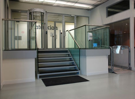 Entranceway of Interxion's Amsterdam Five (AMS 5)  data center.