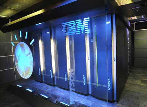 The IBM Watson supercomputer.