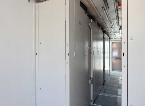 A look inside one of the Cisco Containerized Data Centers.